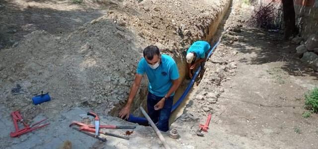 Alifakı'da yeni yerleşim alanına altyapı hattı döşendi