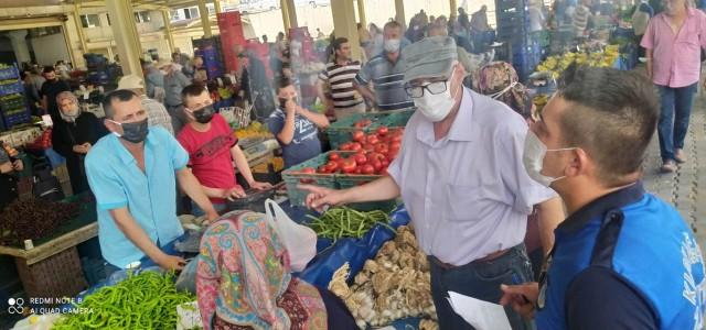 Kırkağaç'ta pazar denetimleri sürüyor